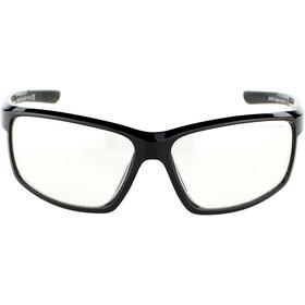 Alpina Defey Gafas, black matt/clear mirror
